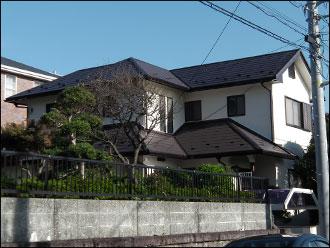 横浜市栄区の施工事例  屋根カバー工事 外壁塗装工事