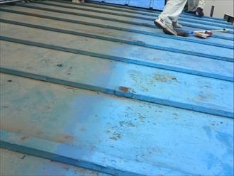 下屋根を葺き替え ビフォア