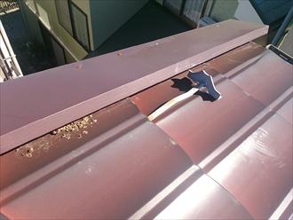 横浜市戸塚区で浮き上がったケラバの板金補修です