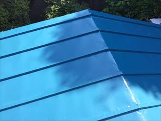 瓦棒屋根を補修工事 ビフォー
