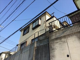 横浜市瀬谷区軒どいからの雨漏れの原因を調査