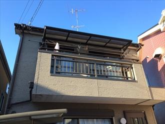 横浜市都筑区の住宅屋根で化粧スレートの劣化を調査