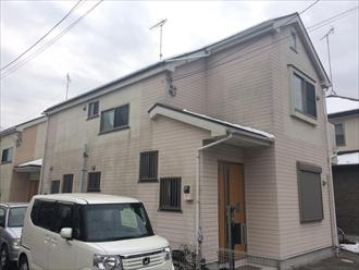 横浜市青葉区の住宅で雪害による軒どい破損を調査