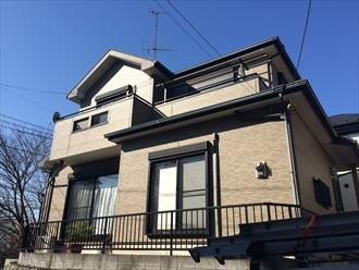 横浜市都筑区の住宅で化粧スレートの調査