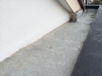 横浜市保土ヶ谷区でパラペットの嵩を下げて屋根形状にします