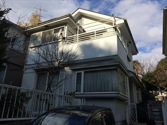 横浜市戸塚区の住宅屋根の調査で20年目の化粧スレート