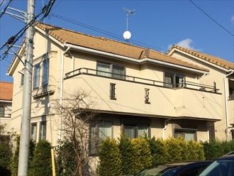 横浜市港南区の住宅で平板瓦アーバン40の漆喰調査