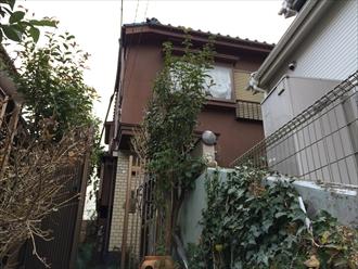 横浜市都筑区の住宅で積雪による雨樋の破損