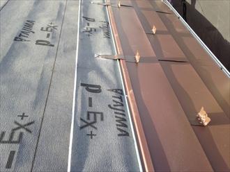 横浜市港北区 屋根カバー工法前の調査 屋根カバー工法の様子