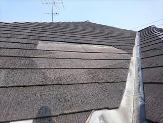 横浜市南区で剥がれ落ちたスレート屋根のメンテナンス