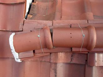 川崎市多摩区で漆喰劣化からの棟崩れ