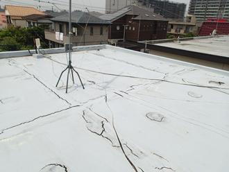 横浜市旭区で屋上防水劣化による雨漏り