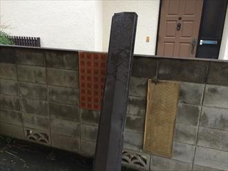 相模原市南区台風被害の屋根調査で棟板金飛散と塗膜剥がれ