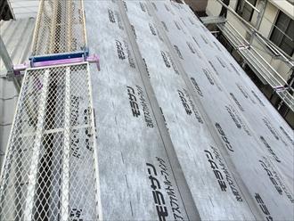 相模原市緑区葺き替え工事の足場を使用した外壁点検