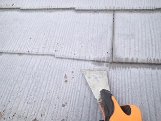 横浜市金沢区で2回目の屋根塗装をご検討中のお客様宅にて縁切り不足