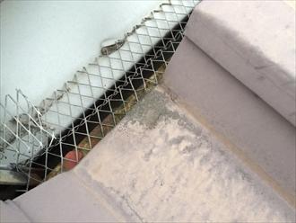折半屋根水切り錆び拡大