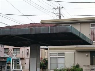 川崎市幸区で雨漏りしている東屋の屋根葺き替え工事