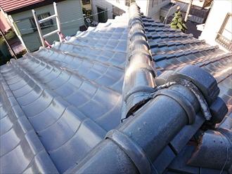 横須賀市で瓦屋根の漆喰の剥がれは棟の崩れに繋がります