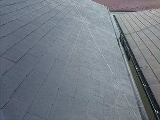 神奈川県座間市で強風で破損した雨樋交換の調査です