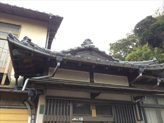 相模原市南区入母屋造りの屋根漆喰調査