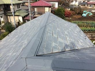 湘南茅ヶ崎市築24年経過した塗装されたスレート屋根調査