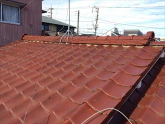 相模原市南区瓦屋根の調査で瓦やモルタルの亀裂と漆喰剥がれ