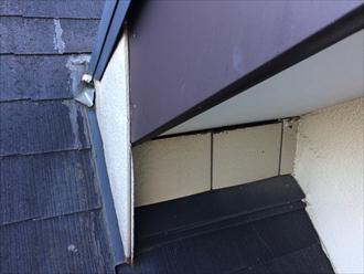既存部屋根と増築部屋根のぶつかり