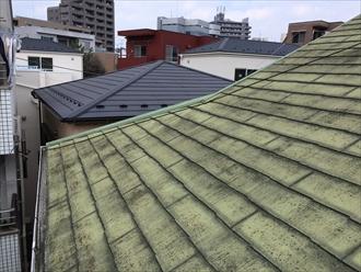 相模原市南区傷んだ屋根にスーパーヒランビーきわみでカバー工事