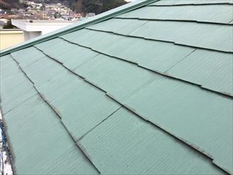 相模原市南区塗装をしたスレート屋根の経年劣化