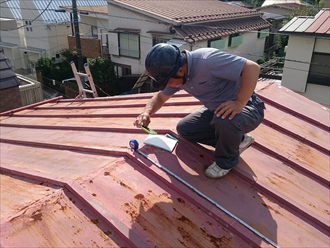 横浜市神奈川区で瓦棒葺きに替わる金属屋根