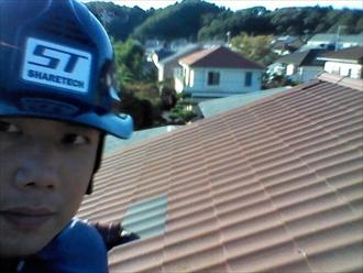 横浜市緑区で落下してしまった瓦屋根の調査に伺いました