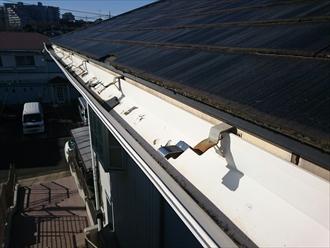 横浜市都筑区で共同住宅の大型雨樋調査です