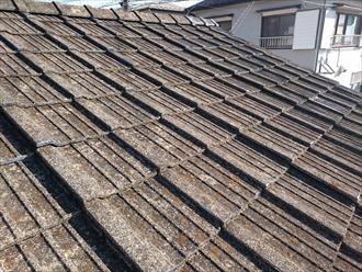 横浜市旭区で破損した屋根瓦の調査をおこないました