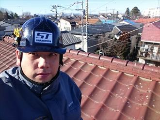 横浜市緑区で瓦屋根から軽いガルバリウム鋼板へ葺替え工事