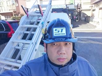 横浜市鶴見区で剥がれた漆喰の調査をおこないました