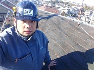 横浜市緑区で傷みの進んだ空家の屋根を葺替えます