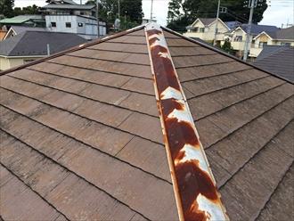 相模原市中央区傷んだスレート屋根にエコグラーニで屋根カバー工事