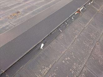 棟板金,塗膜浮き