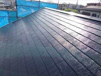 横浜市保土ヶ谷区|石綿と今後を考えサーモアイSiで屋根塗装と破風板板金巻き