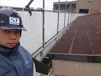 横浜市都筑区でマンションの雨樋交換