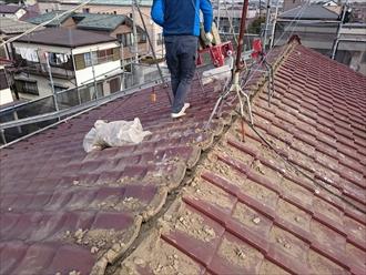 横浜市緑区で屋根葺き替え工事が着工しました