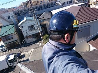 川崎市高津区でスレートと野地板の傷みで葺替え工事が必要です