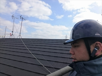 川崎市中原区でエコグラーニで屋根葺替え工事中