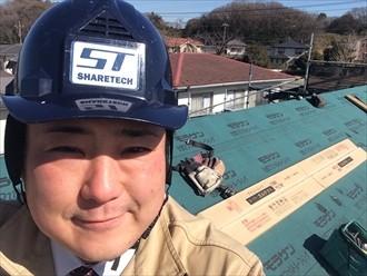 横浜市南区でスーパーガルテクトの屋根葺き替え工事