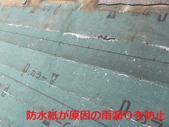 防水紙が原因の雨漏りを防止