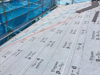 川崎市中原区のお客様から屋根葺替え時の防水紙について質問がありました