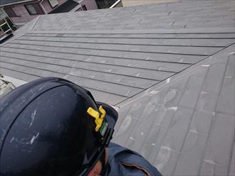 川崎市中原区で緩い勾配の屋根葺替え工事