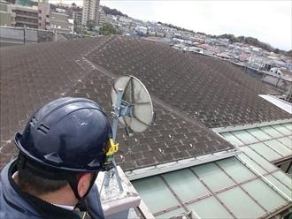 川崎市高津区でマンションの屋根をアスファルトシングルでカバー工事