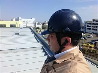 横浜市金沢区で折板屋根の雨漏り修理