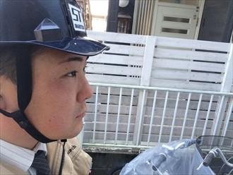 川崎市高津区で雨漏り発生FRP防水の上に亀裂のあるウレタン防水